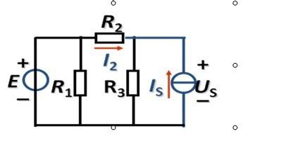 is=1a ,r1=10 r2= r3= 5 ,用叠加原理求流过 r2的电流 i2和理想电流源
