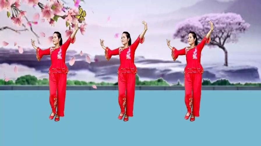 热门广场舞《梅花泪》歌声甜美动听,舞步优美好看附教学