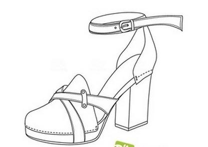 卡通鞋子图片简笔画_aj鞋子简笔画