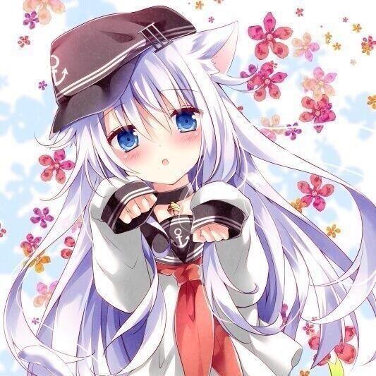这个银发蓝眼睛猫耳的女孩那个动漫里有