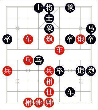一串象棋素描结构图