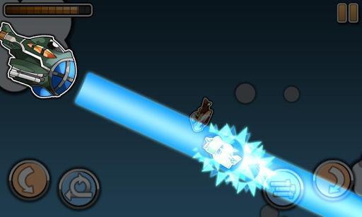 (这么老式的飞机居然有导弹……)这是一款简单的飞行射击游戏,在攻击