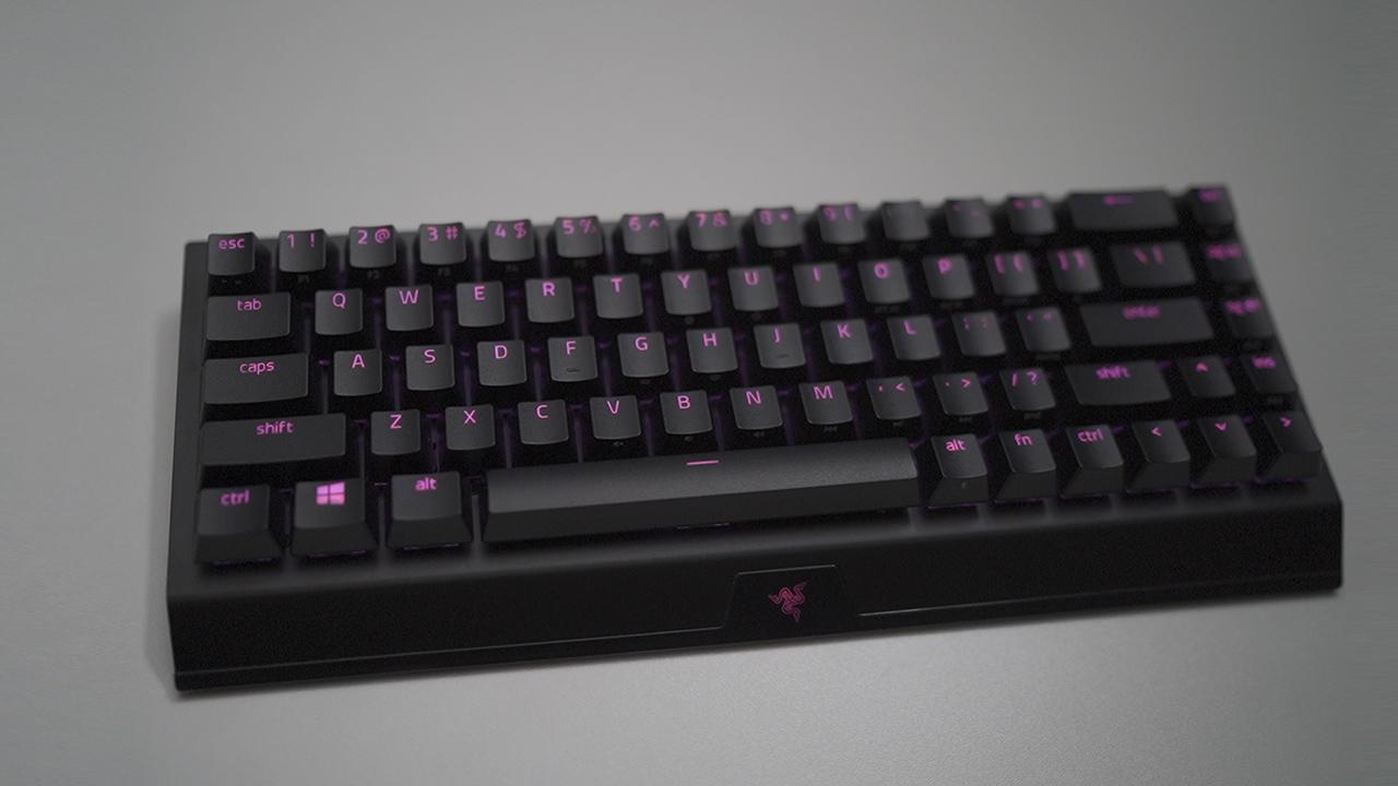 雷蛇黑寡妇蜘蛛V3迷你版无线键盘上手