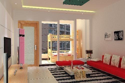 客厅一个圆柱装修图