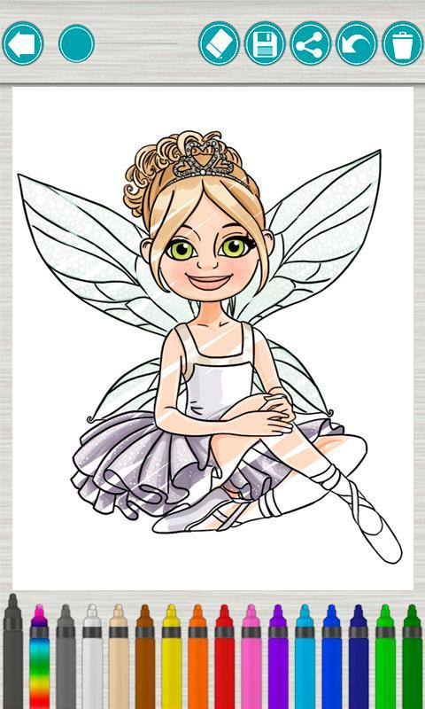 童话公主涂色儿童画画游戏