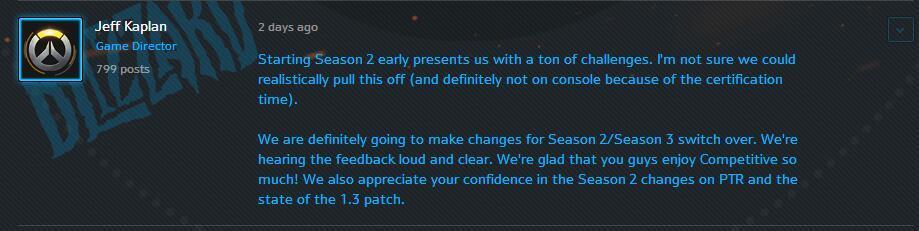 《守望先锋》第二赛季开放时间公布