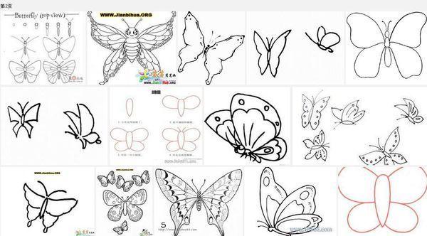 蝴蝶 怎么画