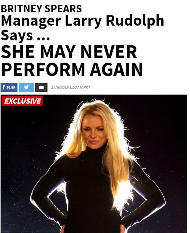 布兰妮深受监护权及精神困扰 或将永不再驻唱表演