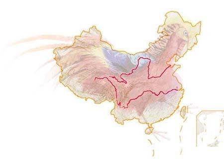 长江 黄河位于中国的哪里(图)