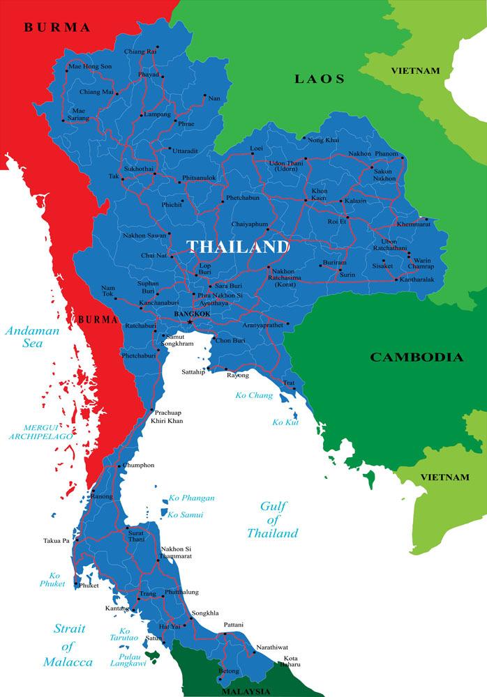 泰国地图英文版全图_美国地图英文版全图