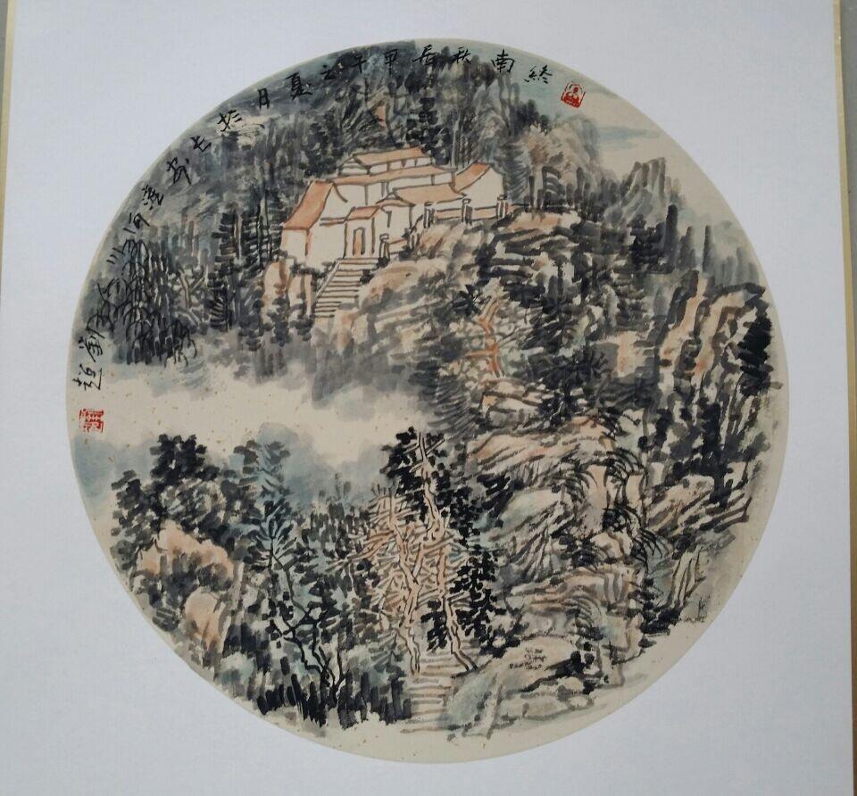 刘超国画团扇小品