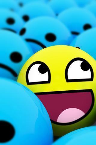 可爱的笑脸壁纸_360手机助手