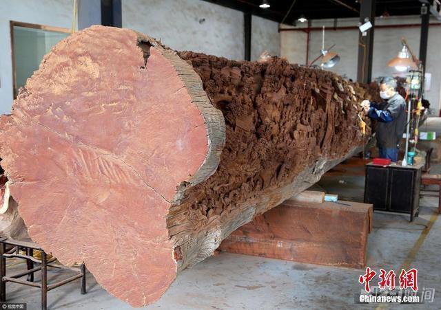 工匠耗时7年:雕刻18米红木《清明上河图》 - 一统江山 - 一统江山的博客