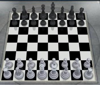 国际象棋摆法图片