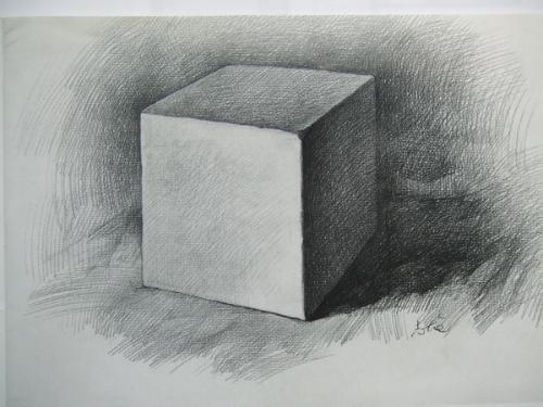 谁有素描画的正方形的图片?谢谢啦