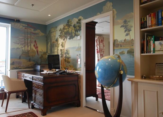 欧式风景丝绸壁纸