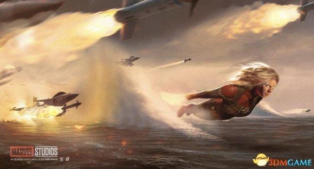 《复仇者联盟4》概念海报 惊奇队长与灭霸史诗对决