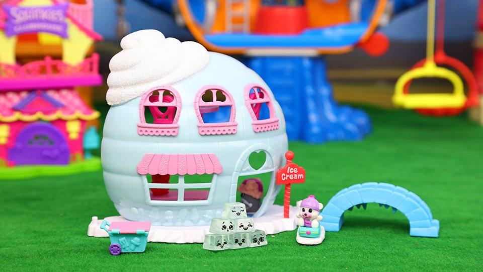 小可爱扭蛋 冰淇淋小屋 squinkies 帽子戏法 冰屋玩具