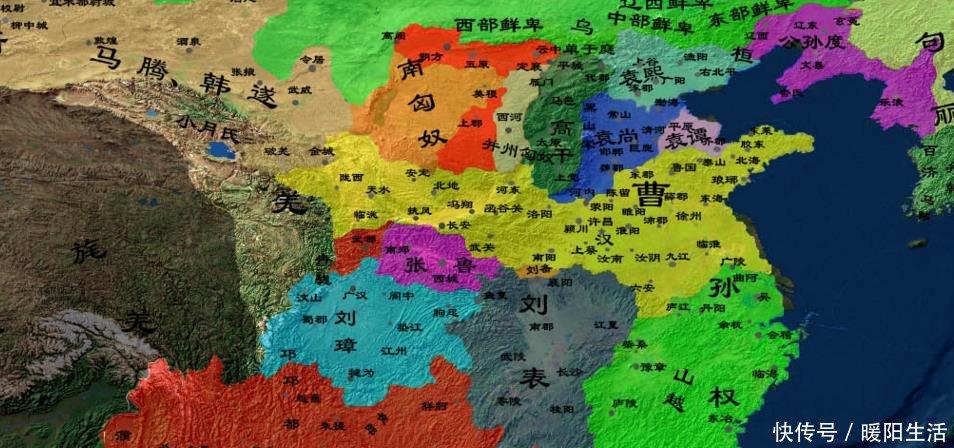 三国前期地图大全,从董卓进京开始,直到三国鼎