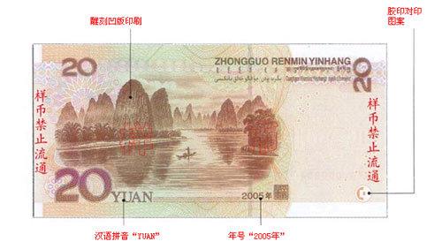 第五套人民币20元纸币
