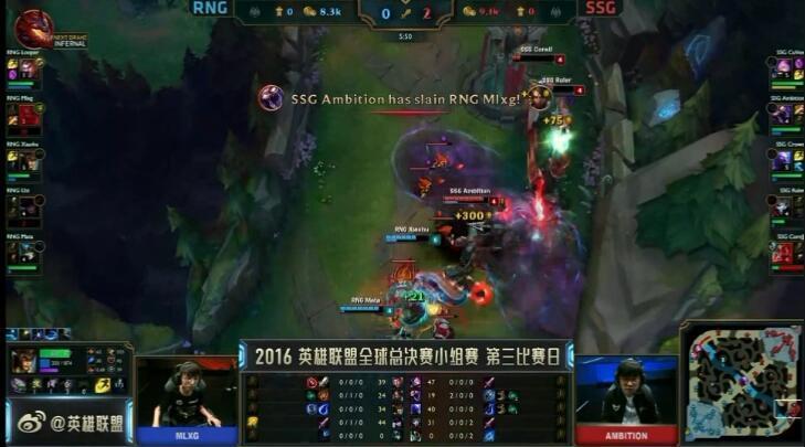LOL S6总决赛 D组头名之争RNG惜败三星