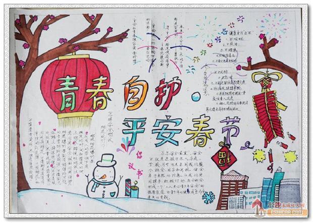 平安春节手抄报内容