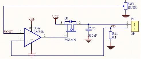 q1的d极与s极之间跨接的二极管方向直接将电流旁路了,q1就没有实际