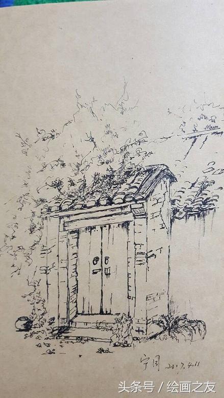 绘画之友第九期风景作品交流--大门口